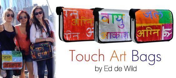 Ed de Wild's TouchArt messenger bags