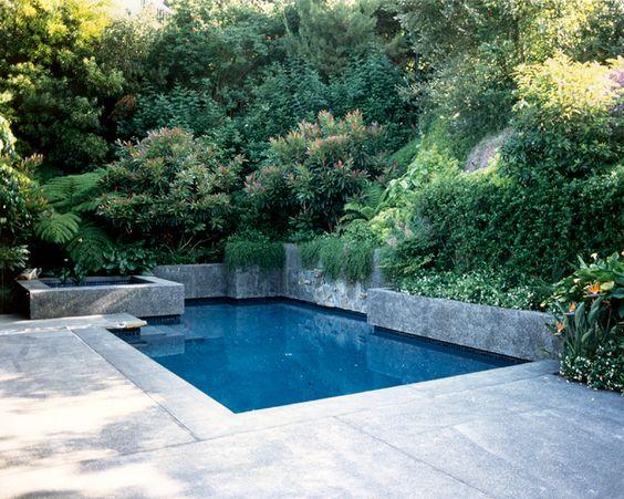 Pool Built Into Hillside Pool Pinterest Pools And La