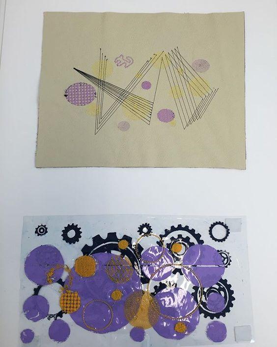 Board 7. My final samples in my portfolio from my most recent hand it #aub #bahonstextiles #textiles #print #inspiration #gearsandcogs #portfolio