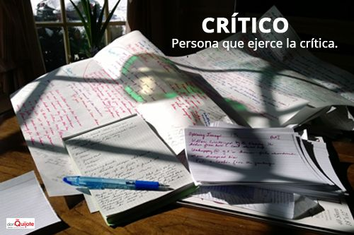 Spanish Word of the Day: Crítico #Spanish #EnjoySpanish  http://www.donquijote.org/spanish-word-of-the-day/word/critico