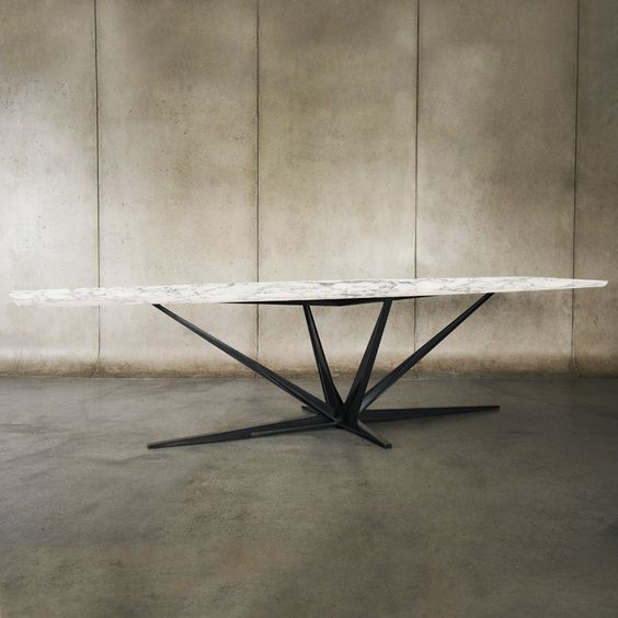 Shop SUITE NY for the Agave Marble Dining Table designed by Alexander Andersson for Luteca and more contemporary designs, dining furniture and tables.