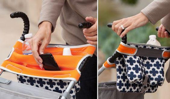 Bolso con compartimentos para la silla de paseo bb for Sillas para guaguas