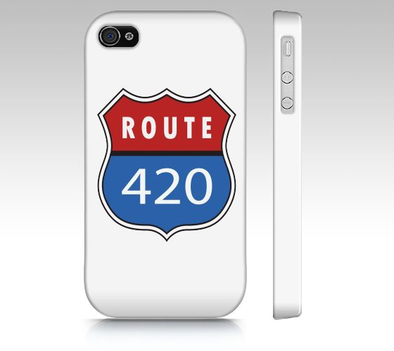 """iPhone 4 / 4S """"Route 420    """" by Medicinal Marijuana"""