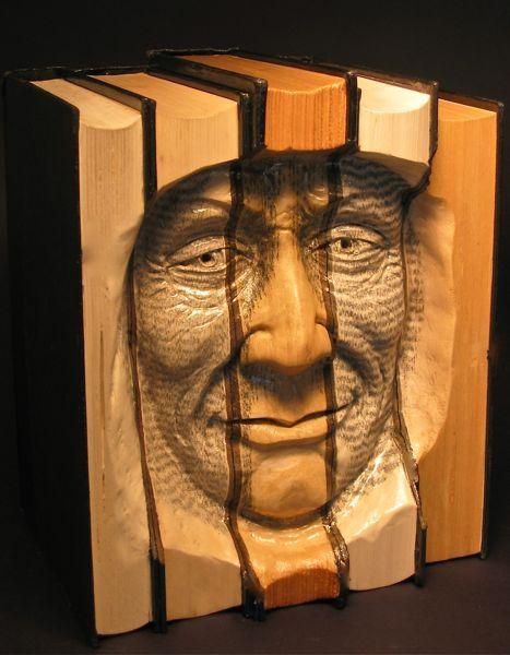 Carved book folk art photo via web journal
