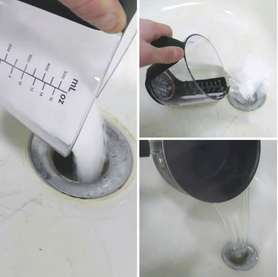 Limpia la tuberia Mezcla bicarbonato de sodio y sal en partes iguales, y echa la mezcla en la tubería. Luego vierte vinagre ahí mismo. Al cabo de 15 minutos lava con agua hirviendo.
