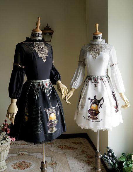 High quality lady summer dress, made by 100percent silk fabrics, exclusive prints on skirt part, black and white color versions available, providing express shipping
