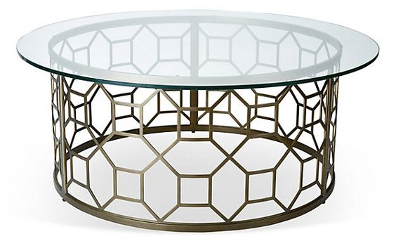 "Avalon 44"" Round Cocktail Table, Bronze 