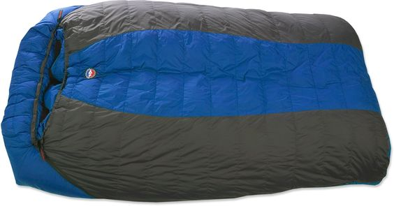 One big sleeping bag is always better than two normal ones.