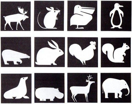 Animal icons from the '67 Expo in Montreal. Designed by Burton Kramer. (Present /&/ Correct blog) www.burtonkrameri...