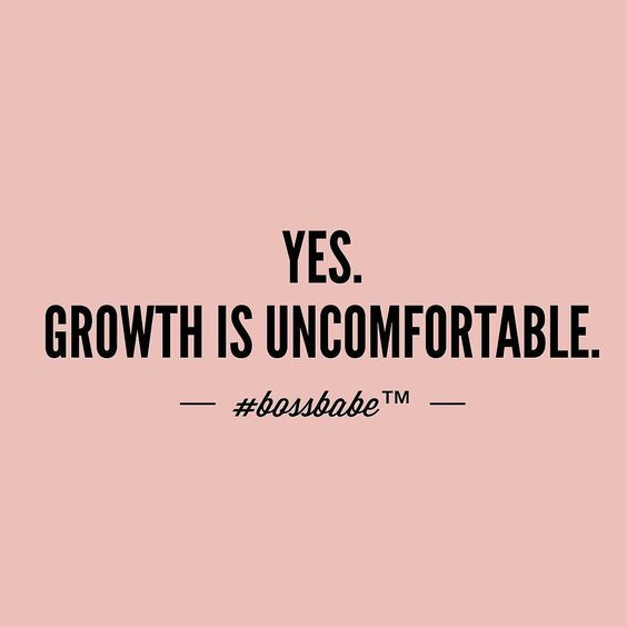 Whoever promises rainbows and unicorns was a liar. Love your discomfort. Push through. It's either growth or deterioration. Take the FREE 3-day #BossBabe starter course by clicking the link in our profile!!