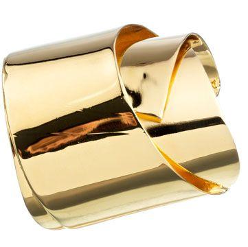 Alexis Bittar bracelet: SCULPTURAL RIBBON CUFF GOLD