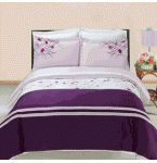 Cherry Embroidered Duvet Cover Set. Luxury Egyptian cotton with an elegant embroidered design. Duvet covers can be washed many more times than a comforter. They protect and keep your comforter fresh like a giant pillow case. There are many styles and materials to choose from.