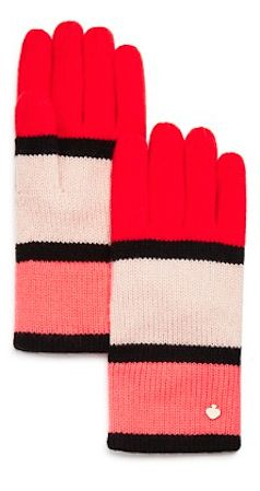 kate spade new york Color Block Gloves