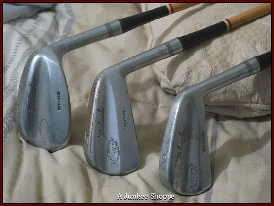 J C Higgins 3 Steel Shaft Golf Clubs 2 5 9 Irons Vintage IMG1740   http://ajunkeeshoppe.blogspot.com/
