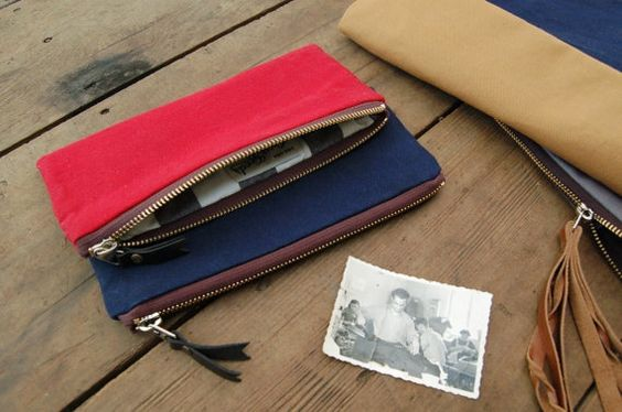 Mattie Pouch by Grey Goods on Little Paper Planes $35