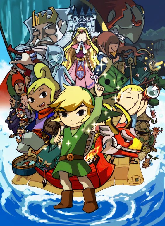 """Awesome depiction of """"The Wind Waker,"""" and not just because I'm on a Zelda kick at the moment and biased towards this game in particular :)"""