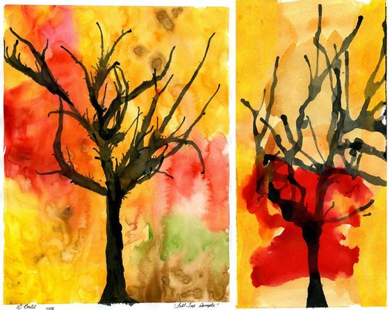 Google Image Result for http://www.designmom.com/wp-content/uploads/from_blogger/falltree043-748308.jpg  Autumn Tree- ink blowing at watercolor background- try with tissue paper?
