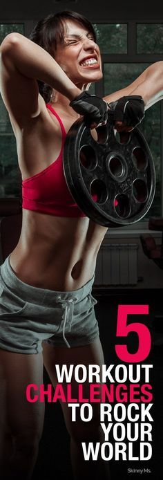 Take it to the next level! 5 Workout Challenges That Will Rock Your World. #SkinnyMs