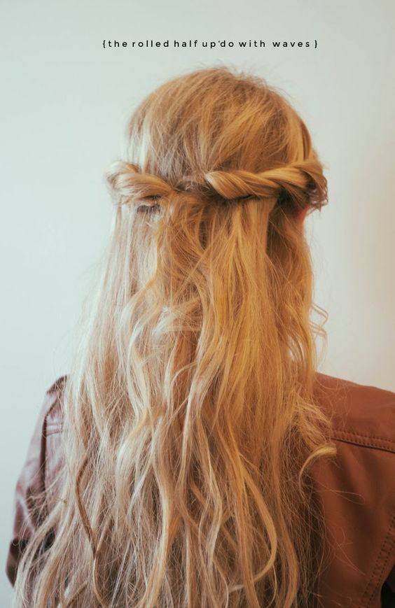 Boho hippie, Warm blonde and Updo on Pinterest
