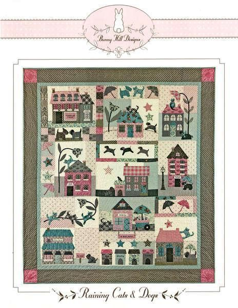Raining Cats and Dogs 2028 House Village BOM Bunny Hill Pattern Set in Crafts, Sewing & Fabric, Quilting | eBay