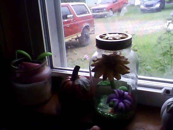 Tangled Flower Glow Jar