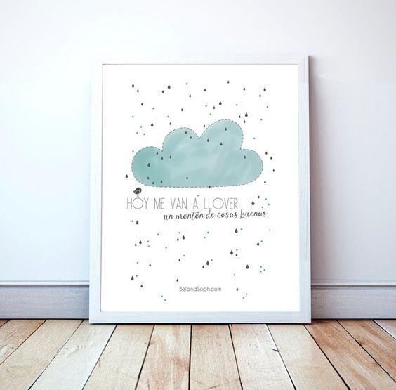 Poster para enmarcar en dormitorios infantiles l minas - Laminas decorativas pared ...