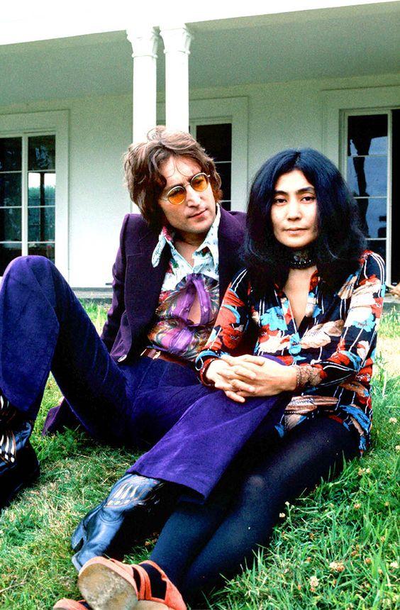 John Lennon & Yoko Ono at Tittenhurst, 1971, by George Konig.
