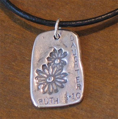 Sterling GodTag for your Daughter... featuring Ruth 3:10... The Lord Bless You My Daughter.