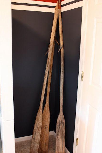 Boat oars for boys room