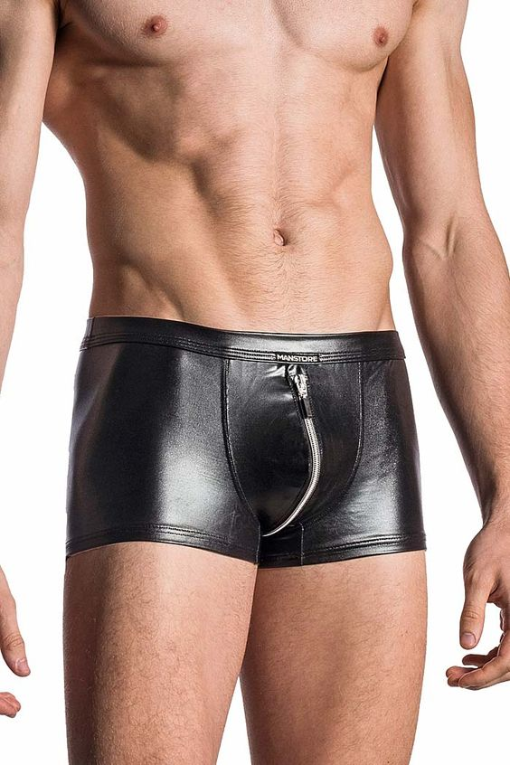 MANSTORE Zipped Pants M107 in Lack, Latex Optik jetzt bei www.easyfunshop.net