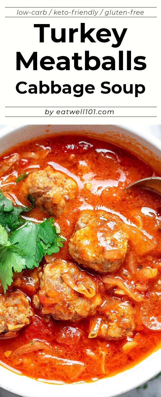 Cabbage Turkey Meatballs Soup