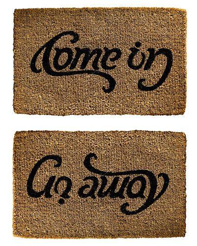 Anagram Door Mat - I want this