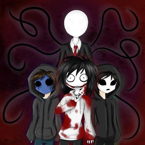 Slenderman, Masky, Eyeless Jack, and Jeff The Killer ...