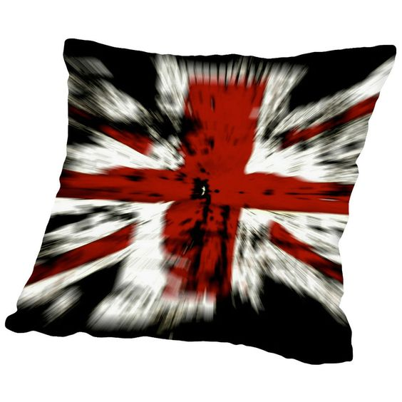 Americanflat United Kingdom Flag Throw Pillow #Americanflat