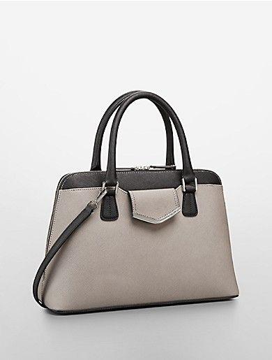 saffiano leather satchel