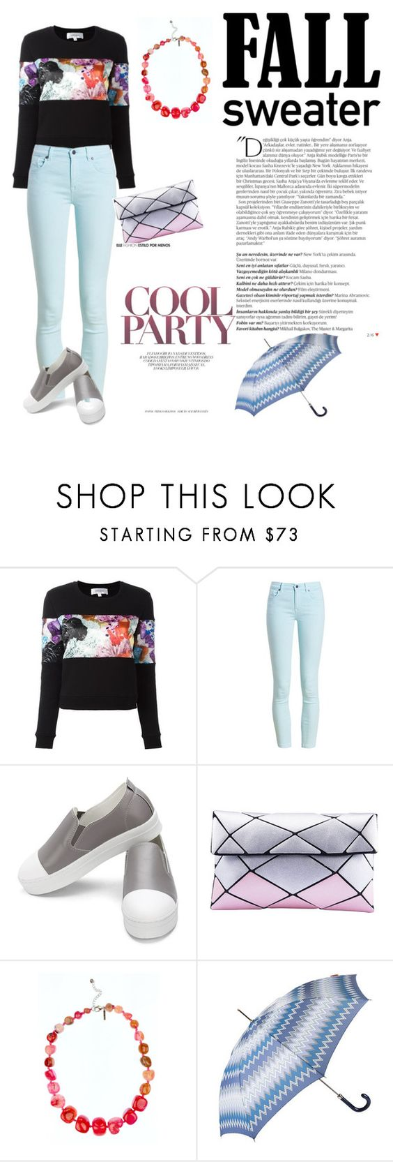 """""""Fall sweater"""" by jeanneaxelle ❤ liked on Polyvore featuring Barbour, Balmain and Missoni"""