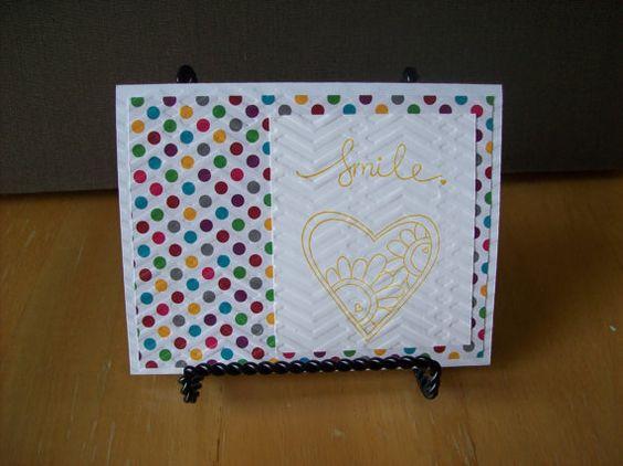 Handmade Greeting Card  Smile  Blank on the by janzcardsandgifts