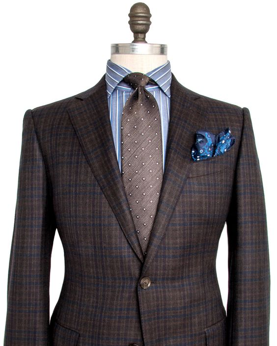 Chocolate and Navy Plaid Sportcoat