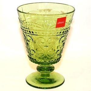 Weinglas-bunt-Glas-farbig-0-2-Liter-apfelgruen-Zafferano