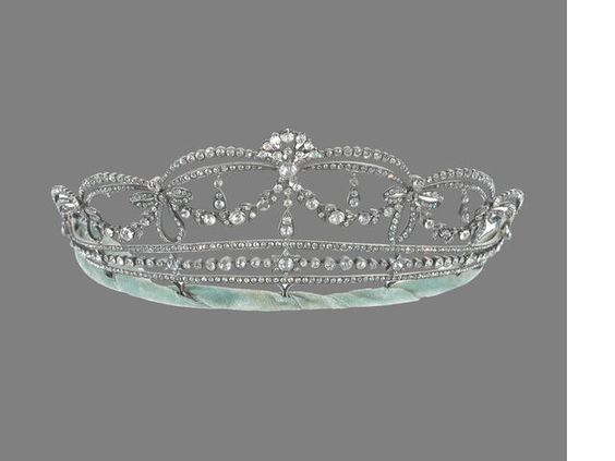 A silver and paste tiara, (illustrated above)