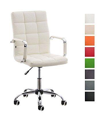 CLP Silla de escritorio DELI V2 con un acolchado de mayor calidad, Altura del asiento: 45 - 54 cm, 8 colores de revestimiento para elegir verde