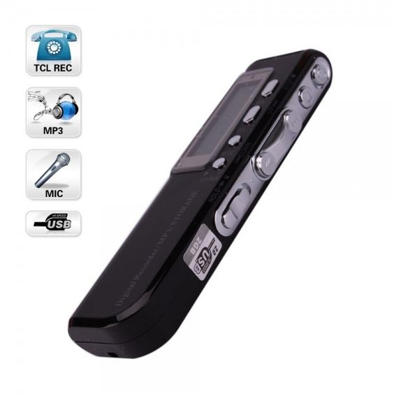 "Free Shipping 2GB 1.37"" CL_R10 USB Flash Digital Voice Recorder with MP3 Function Black"