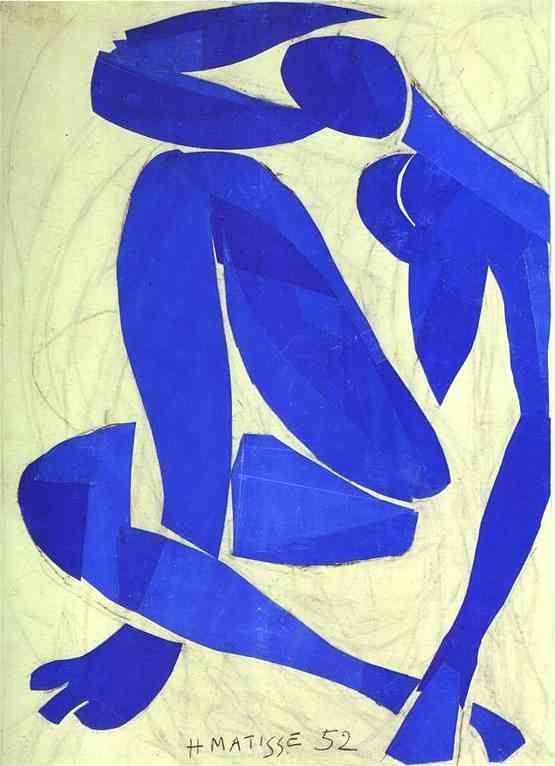 Henri Matisse >> Nu bleu IV 1952
