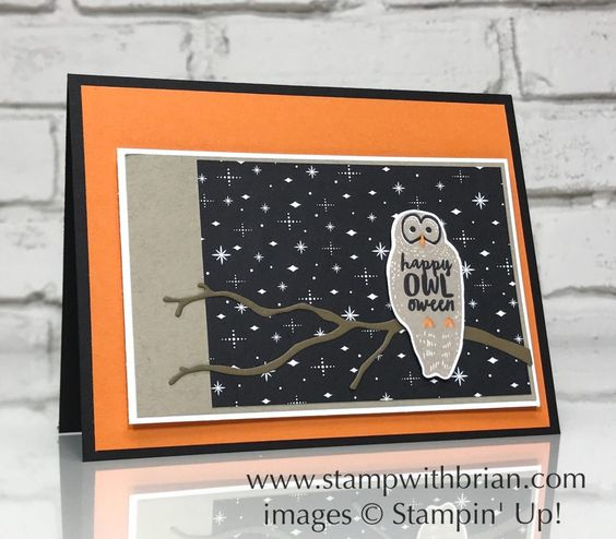 Spooky Cat, Stampin' Up!, Brian King, Halloween card