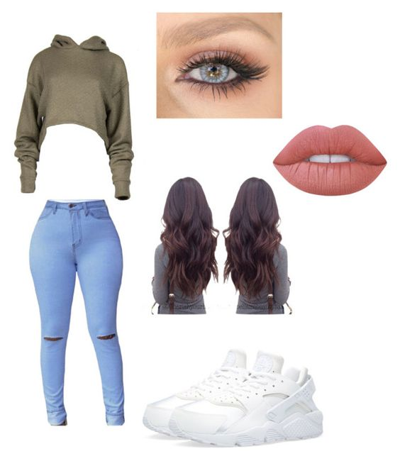 """Untitled #12"" by briantine ❤ liked on Polyvore featuring NIKE and Lime Crime"