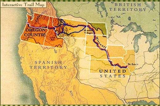 Lewis and Clark . Interactive Trail Map   PBS