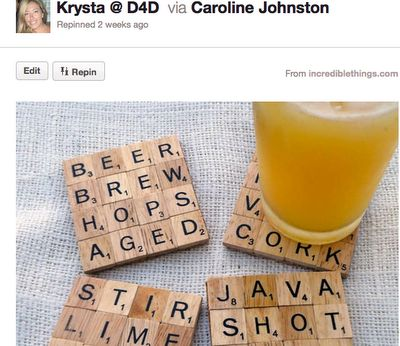 Scrabble Coasters, really cute wedding shower gift