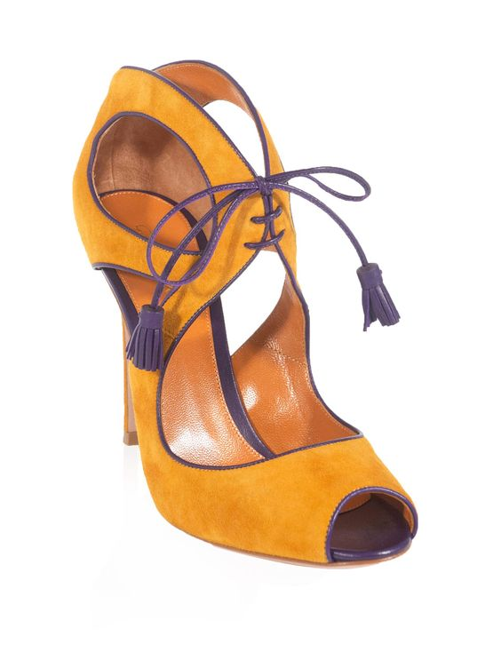 Mandarin and purple suede. Gianvito Rossi: Style Shoes, 6342 Shoes, Expensive Shoes, Fashion Style, Bout Shoes, Amazing Shoes, Suede Shoes, Dazzling Shoes, Contrast Trim Suede