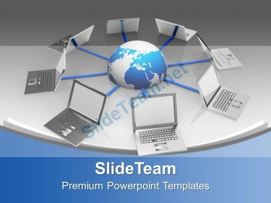 Laptops Interconnected Network Technology PowerPoint Templates PPT Themes And Graphics 0213 #PowerPoint #Templates #Themes #Background