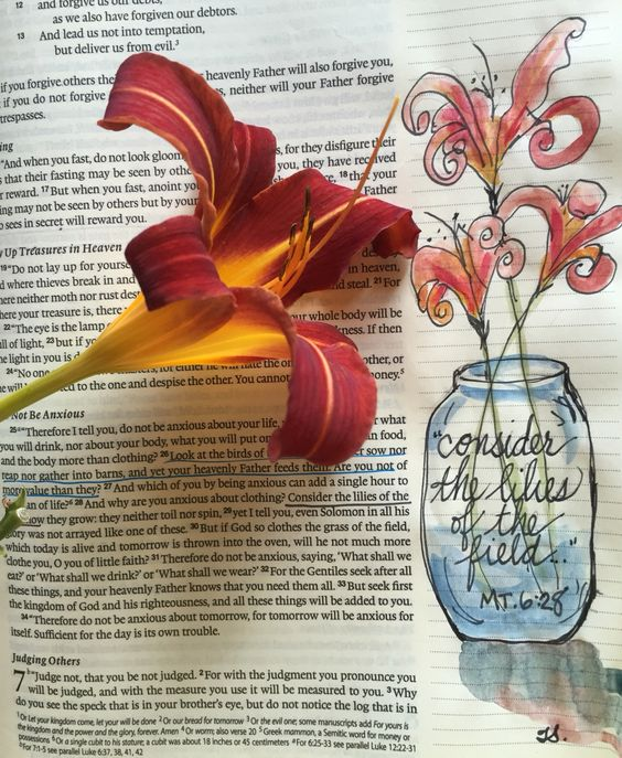 Bible Journaling, watercolor by Tisha Sheldon